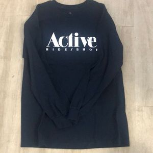 Men's Blue long sleeve active t Shirt